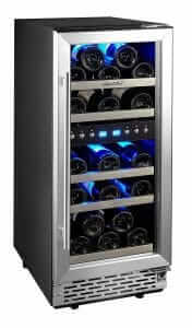 Phiestina 15 Inch Dual Zone Wine Cooler Refrigerator