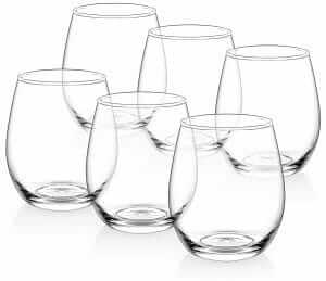 Zuzoro Stemless Wine Glasses (Set of 6)